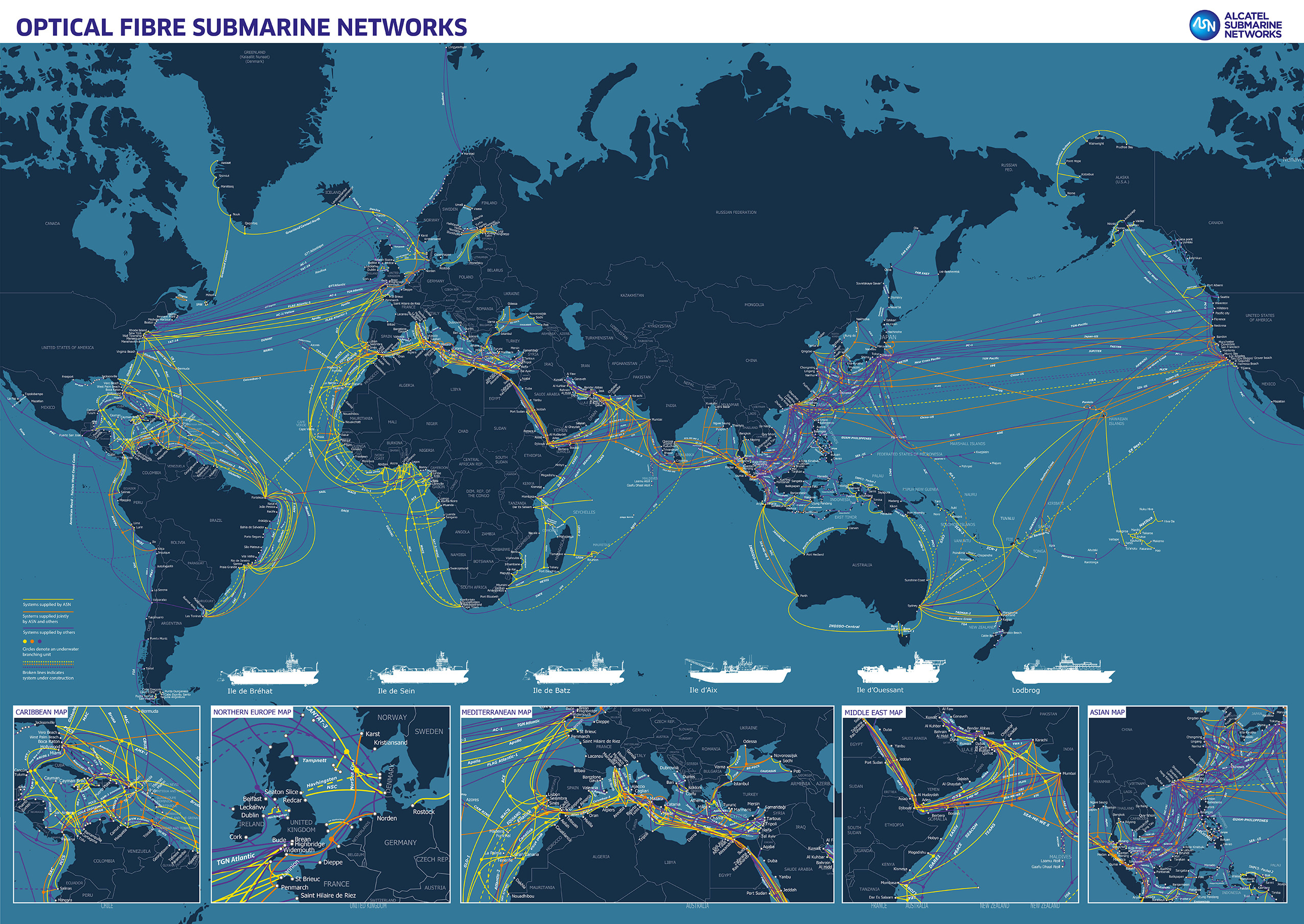 ASN Cable Map without Background