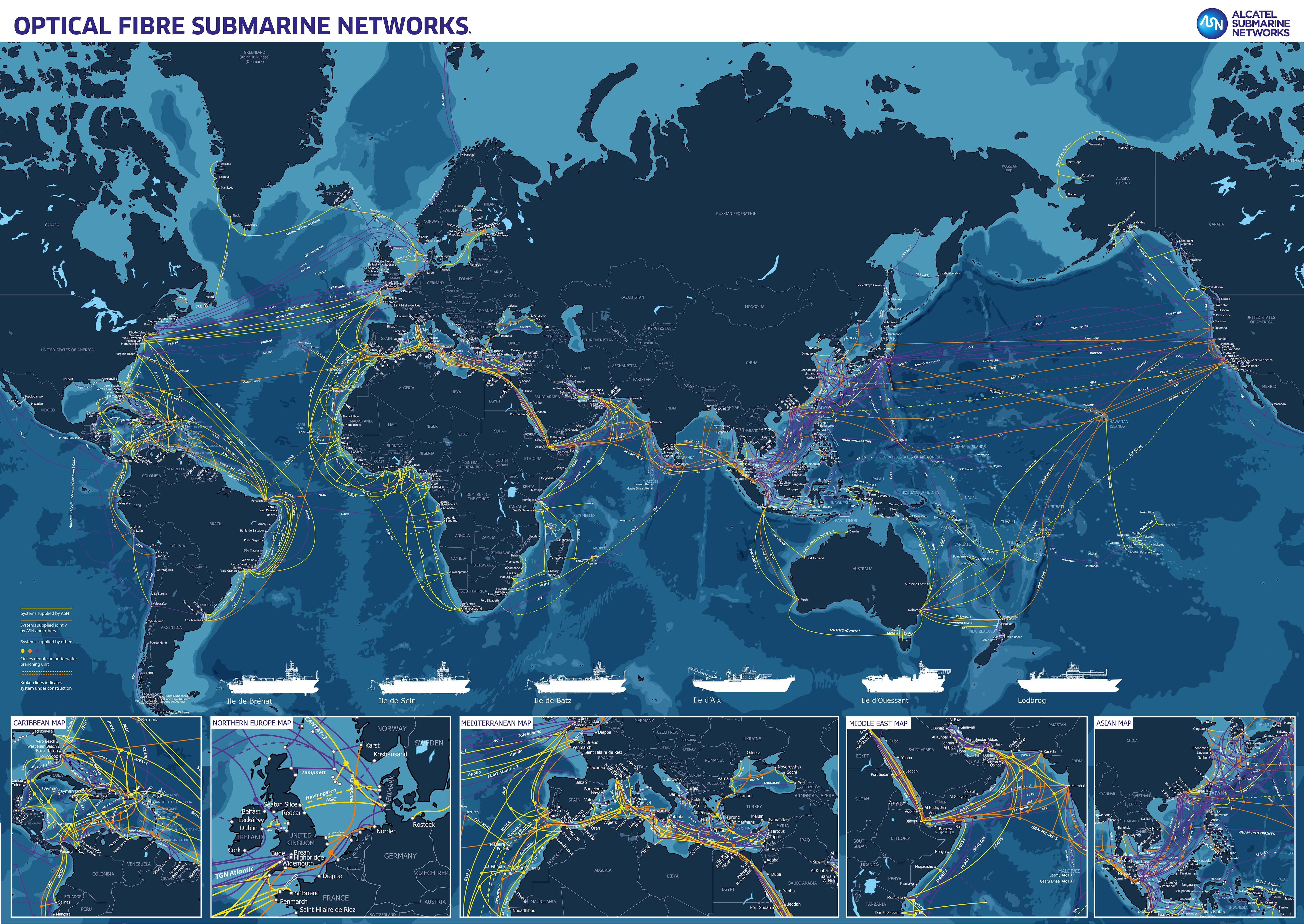 ASN Cable Map with Background